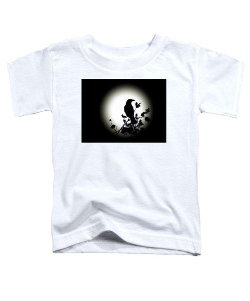Blackbird In Silhouette  Toddler T-Shirt
