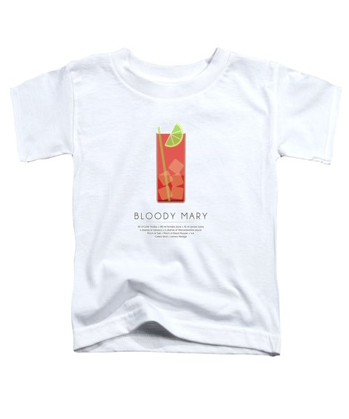 Bloody Mary Classic Cocktail - Minimalist Print Toddler T-Shirt