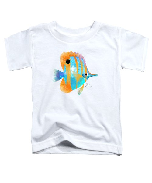 Blue And Gold Fish Toddler T-Shirt