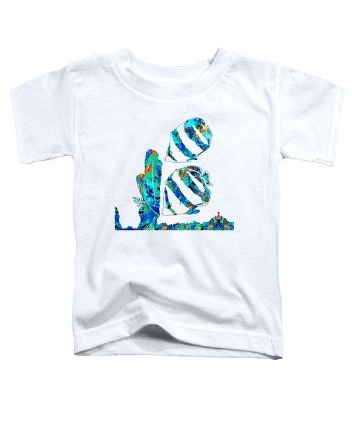 Blue Angels Fish Art By Sharon Cummings Toddler T-Shirt
