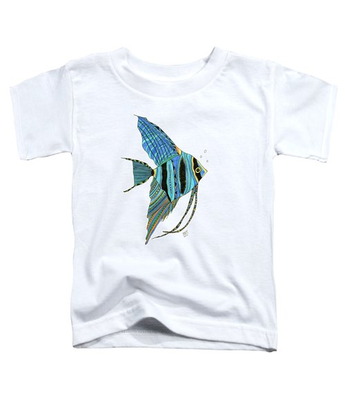 Blue Anglefish Toddler T-Shirt