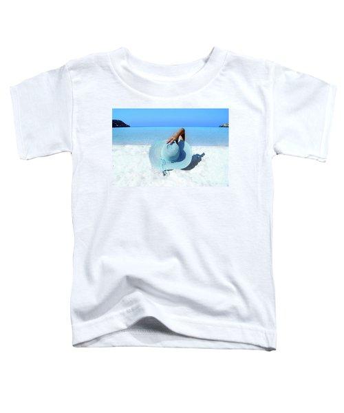 Blue Beach Toddler T-Shirt