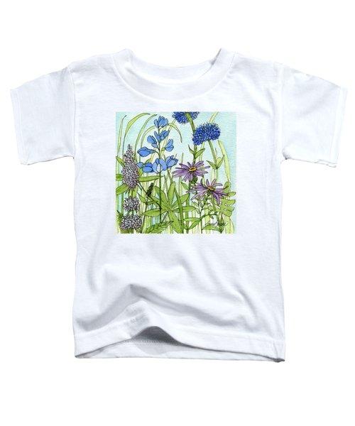 Blue Buttons Toddler T-Shirt