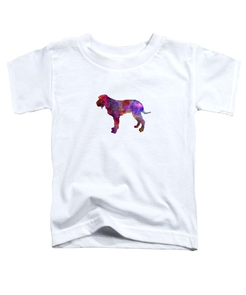 Blue Gascony Griffon In Watercolor Toddler T-Shirt by Pablo Romero