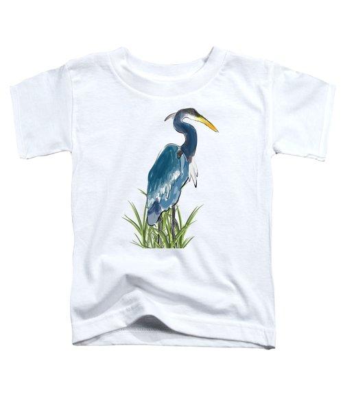 Blue Heron Toddler T-Shirt by Devon LeBoutillier