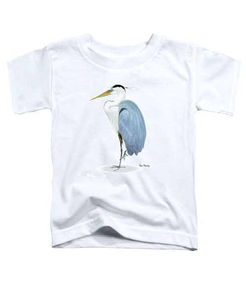 Blue Heron With No Background Toddler T-Shirt