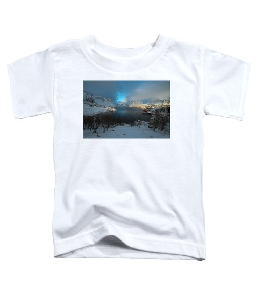 Blue Hour Over Reine Toddler T-Shirt