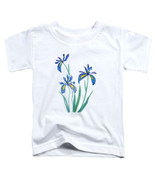 Blue Iris Toddler T-Shirt by Color Color