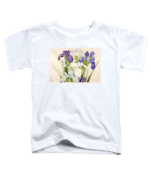 Blue Irises-posthumously Presented Paintings Of Sachi Spohn  Toddler T-Shirt