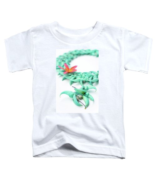 Blue Jade Lei Toddler T-Shirt