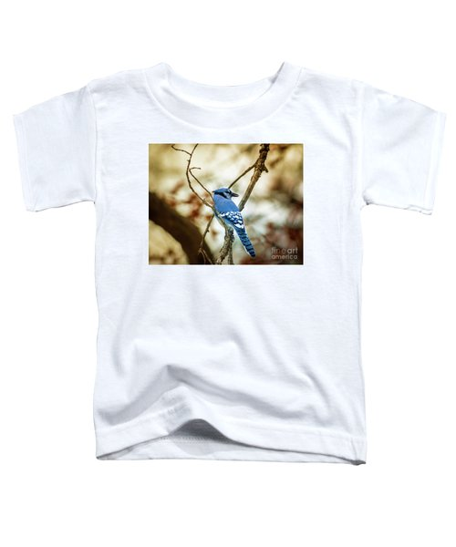 Blue Jay Toddler T-Shirt by Robert Frederick