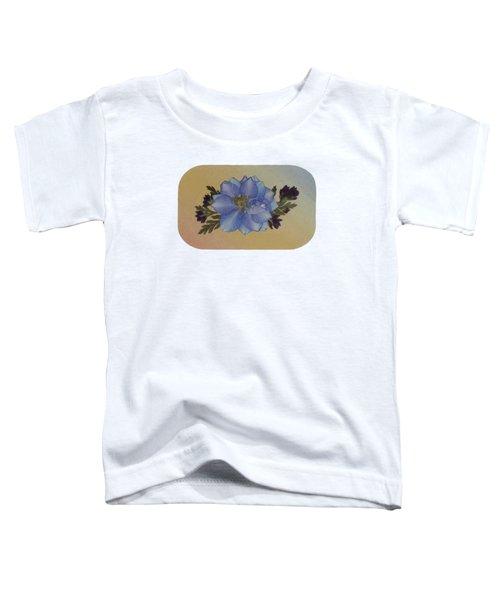Blue Larkspur And Oregano Pressed Flower Arrangement Toddler T-Shirt