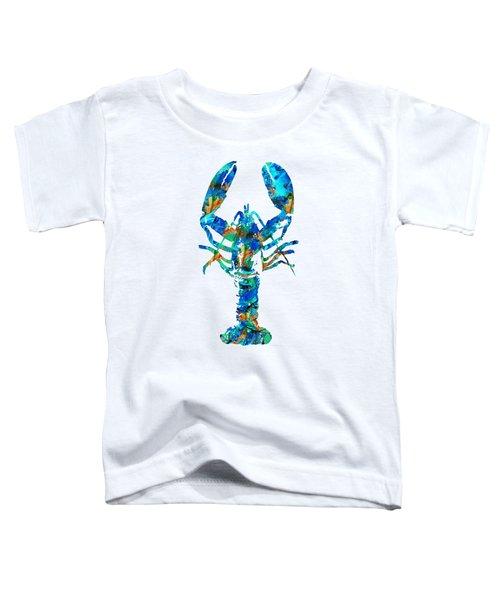 Blue Lobster Art By Sharon Cummings Toddler T-Shirt by Sharon Cummings