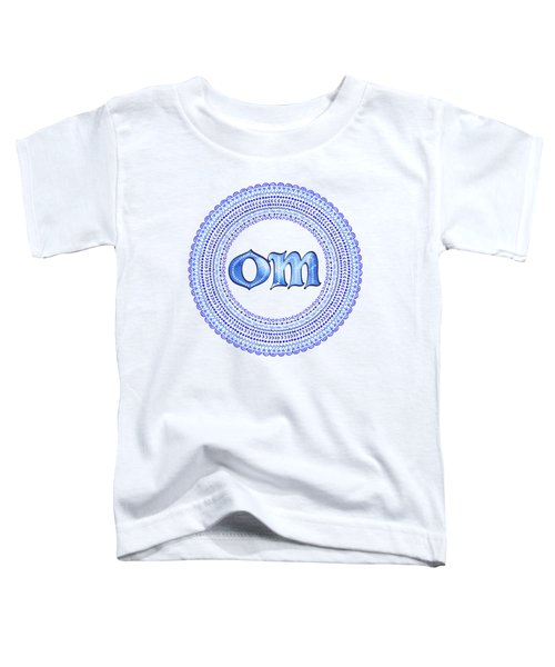 Blue Om Mandala Toddler T-Shirt