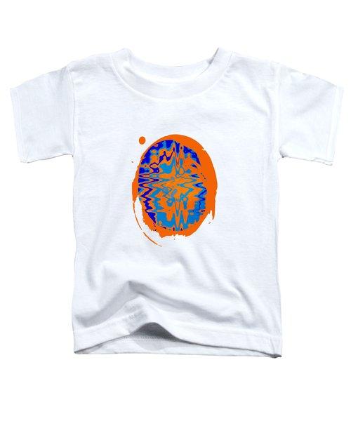 Blue Orange Abstract Art Toddler T-Shirt