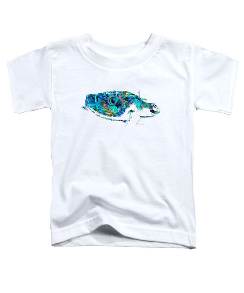Blue Sea Turtle By Sharon Cummings  Toddler T-Shirt by Sharon Cummings