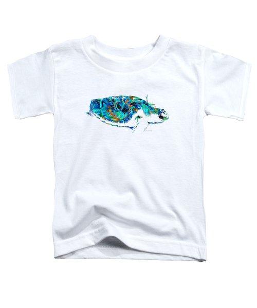 Blue Sea Turtle By Sharon Cummings  Toddler T-Shirt
