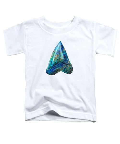 Blue Shark Tooth Art By Sharon Cummings Toddler T-Shirt by Sharon Cummings
