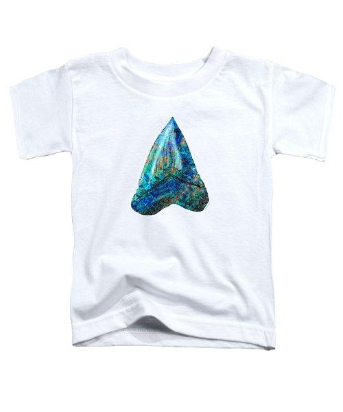 Blue Shark Tooth Art By Sharon Cummings Toddler T-Shirt