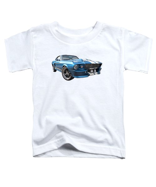Blue Skies Cruising - 1967 Eleanor Mustang Toddler T-Shirt