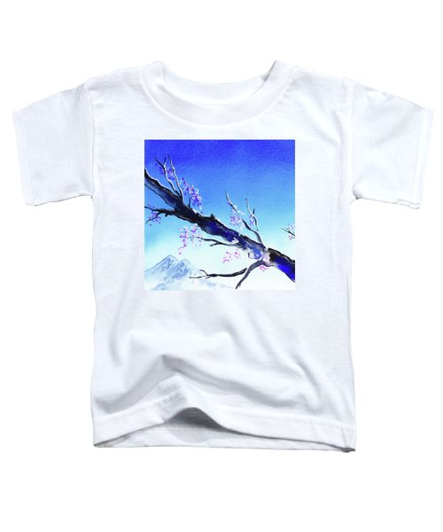 Blue Sky Mountains Spring  Toddler T-Shirt