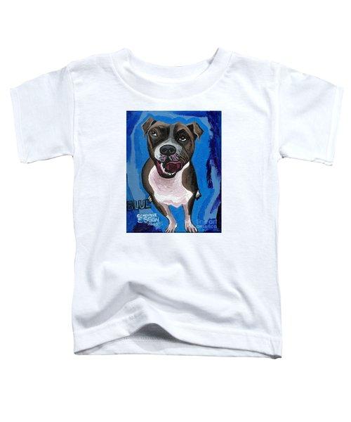 Blue The Pit Bull Terrier Toddler T-Shirt