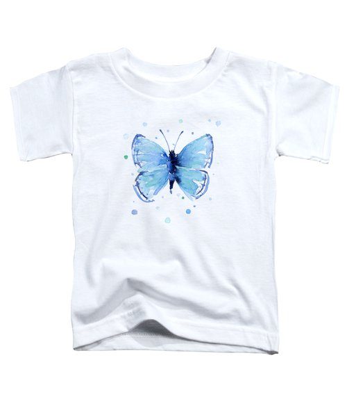 Blue Watercolor Butterfly Toddler T-Shirt