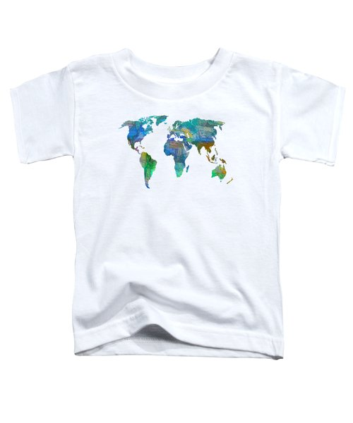 Blue World Transparent Map Toddler T-Shirt