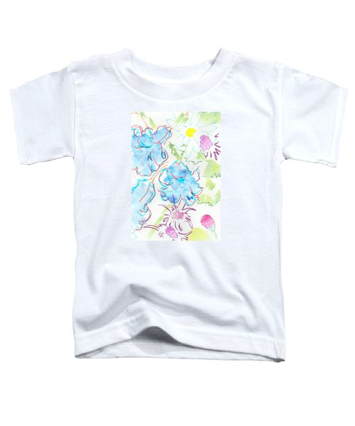 Bluebells English Wild Flowers Toddler T-Shirt