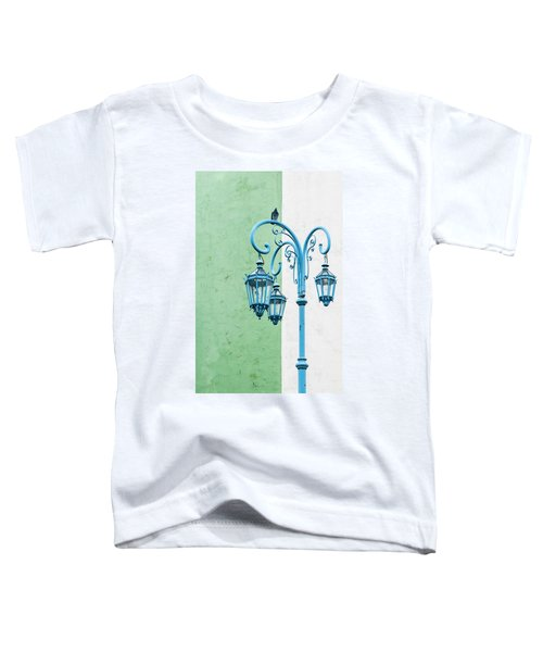 Blue,green And White Toddler T-Shirt
