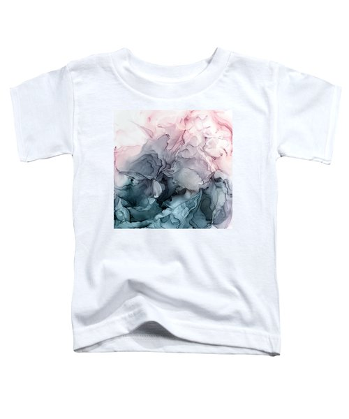Blush And Payne's Gray Flowing Abstract Toddler T-Shirt
