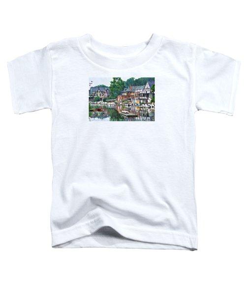 Boathouse Row In Philadelphia Toddler T-Shirt