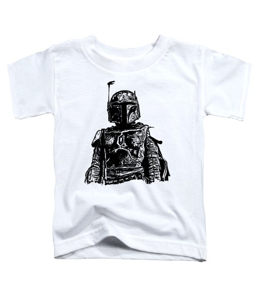 Toddler T-Shirt featuring the digital art Boba Fett From The Star Wars Universe by Edward Fielding