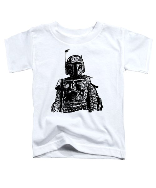Boba Fett From The Star Wars Universe Toddler T-Shirt by Edward Fielding
