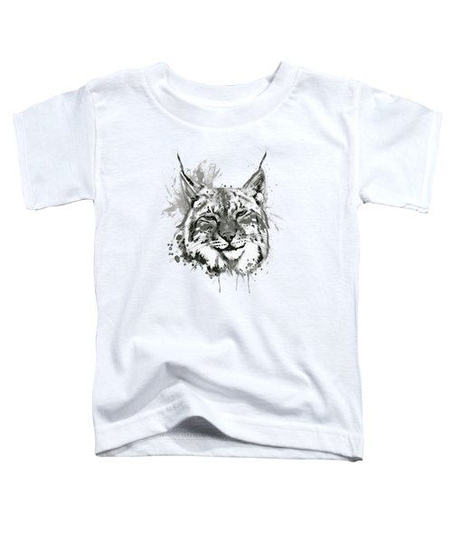 Bobcat Head Black And White Toddler T-Shirt