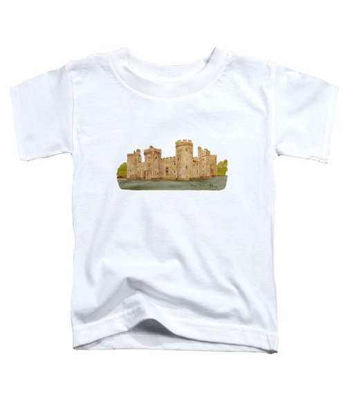 Bodiam Castle Toddler T-Shirt by Angeles M Pomata