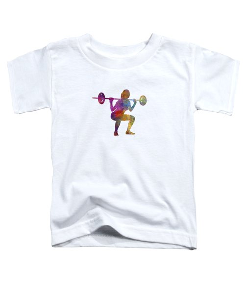 Body Buiding Woman Isolated Toddler T-Shirt