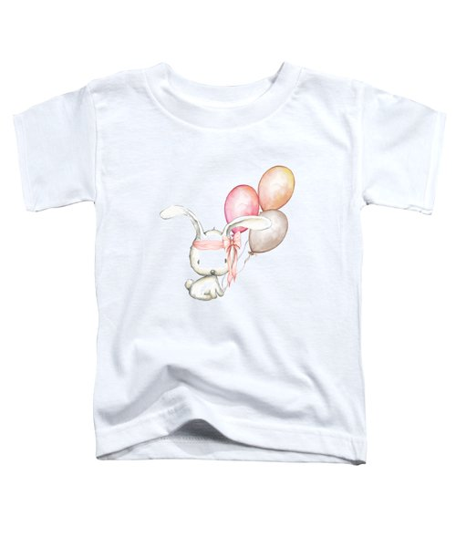 Boho Bunny With Balloons Toddler T-Shirt