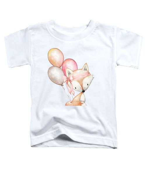 Boho Fox With Balloons Toddler T-Shirt