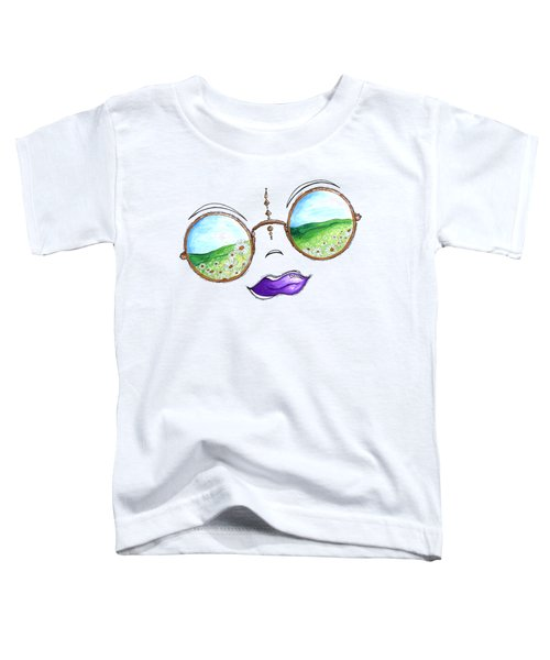 Boho Gypsy Daisy Field Sunglasses Reflection Design From The Aroon Melane 2014 Collection By Madart Toddler T-Shirt
