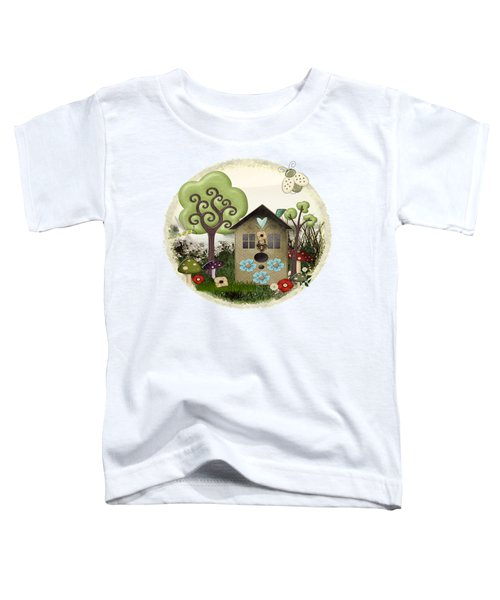 Bonnie Memories Whimsical Mixed Media Toddler T-Shirt by Sharon and Renee Lozen