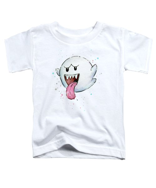 Boo Ghost Watercolor Toddler T-Shirt