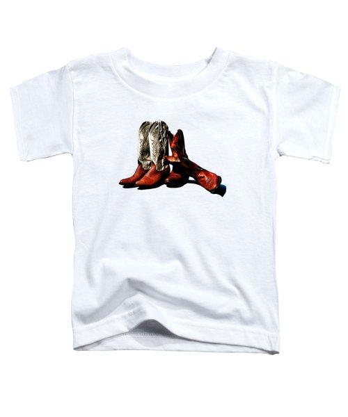 Boot Friends Cowboy Boot T Shirt Art Toddler T-Shirt