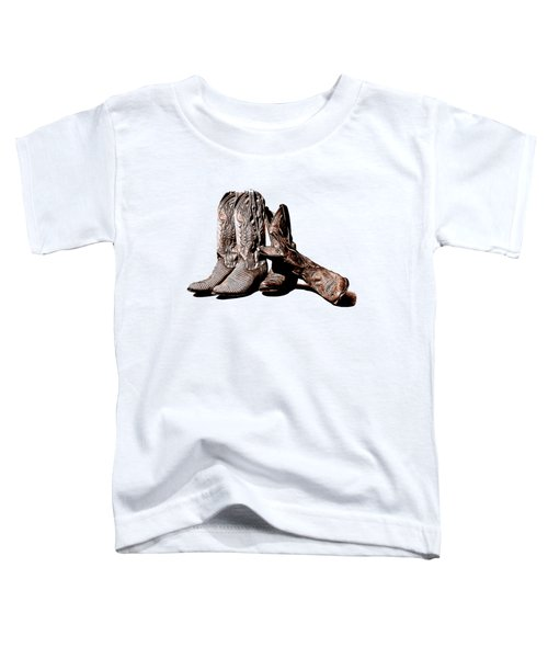 Boot Friends White Background Toddler T-Shirt