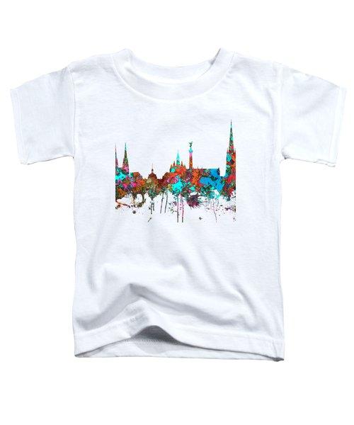 Bordeaux France  Skyline  Toddler T-Shirt by Marlene Watson