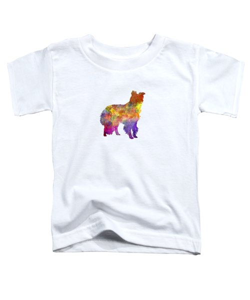 Border Collie In Watercolor Toddler T-Shirt