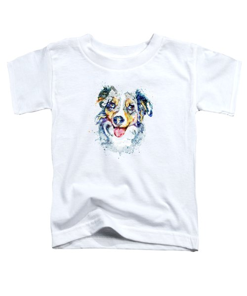 Border Collie  Toddler T-Shirt by Marian Voicu