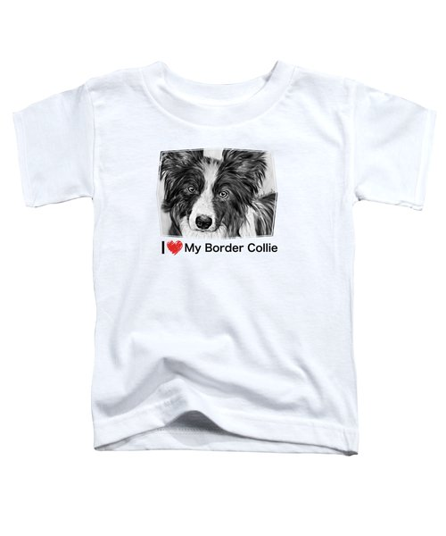 Border Collie Stare Toddler T-Shirt
