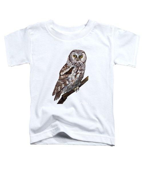 Boreal Owl Tengmalm's Owl Aegolius Funereus - Nyctale De Tengmalm - Paerluggla - Nationalpark Eifel Toddler T-Shirt