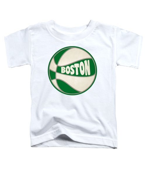 Boston Celtics Retro Shirt Toddler T-Shirt by Joe Hamilton